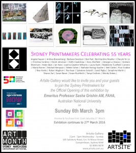55 years of Sydney Printmakers